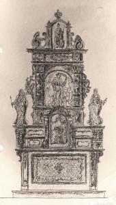 6. Entwurf zur Neugestaltung des Altars von Carl Walter zu Trier