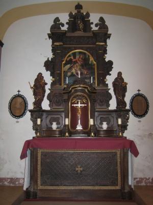 7. Altar in der heutigen Form, nach Ausbesserungen und Neugestaltung