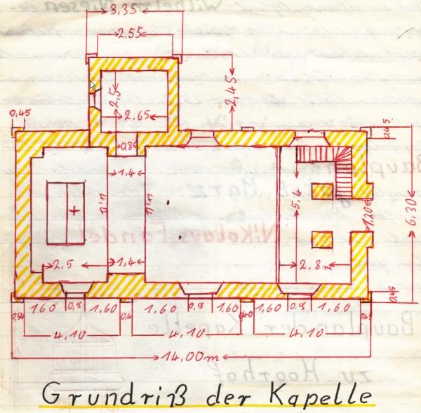 4. Grundriss der Neuen Kapelle
